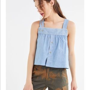 NWT Urban Outfitters remade denim tank top, small